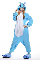 Wholesale Hippo Pajamas Costume - Classic Halloween animal cartoon pajamas hippo, autumn and winter home service men and women. Suitable for holiday parties,cosplay.
