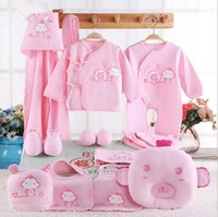 Wholesale baby full month gift - 14pcs 1set Newborn baby clothes gift set infant baby suit supplies clothes suits baby full moon gift set clothes suit KKA3563