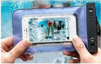 ingrosso casse del telefono 5s-Custodia impermeabile per Samsung s6 s5 impermeabile impermeabile telefono cellulare sacchetti del collo impermeabile per iPhone 5s 6 plus i6