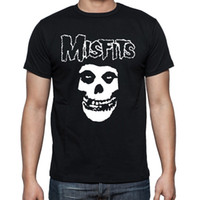 Wholesale Fitted T Shirt Pattern - Wholesale-Top Quality Pattern Misfits T Shirt Male Short Sleeve Round Neck Cool Skull Men t-shirts Printing Fitted Boy Tee Shirts