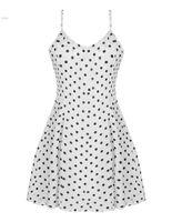 Wholesale High Neck 29 - vestido de festa 2015 Fashion Lady Women Casual Chiffon Dots Dress New Strap V-neck Sexy High Waist Mini A-line Dress 29