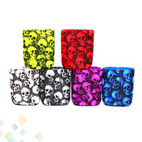Wholesale cover swag - Skull Case Swag 80W Box Mod Proect Case Skull Head Soft Silicone Rubber Carry Bag Cover for Vaporesso Swag 80 Mods DHL Free