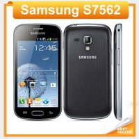 Wholesale Galaxy S 3g - S7562 Original phone Samsung galaxy s duos s7562 dual sim cards GSM 3G 4.0'' Wifi GPS 5MP Camera Unlocked Cell phone Refurbished