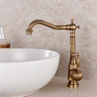 Wholesale Vintage Kitchen Sink Faucets - Fashion bronze faucet antique kitchen mixer basin mixer vintage sink faucet tap vegetables basin sink mixer