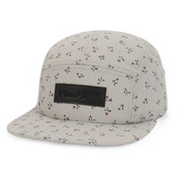 Wholesale Only Beanies - Wholesale-ONLY 1 PC Fresh Small Flowers Print HIPHOP 5 PANEL Snapback Hat Floral Men Women Fashion Adjustable Latest Beanie Cap Goldtop