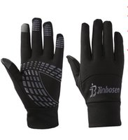 Wholesale Warm Long Gloves - Windproof Outdoor Sports Full Finger Bicycle Bike Cycling Gloves Winter Fleece Thermal Warm Touch Screen Long Gloves