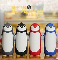 Wholesale Thermo Glass Cup - Creative Penguin Shape Thermos Cup Stainless Steel Thermos Mug Drinkware Travel Thermo Coffee Cup Thermoe Vacuum Fask Glass Cups