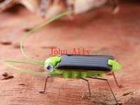 Wholesale Solar Powered Crickets - Wholesale Popular Solar Power Toy Energy Crazy Grasshopper Cricket Kit christmas gift Toy Great toy or kids Creative toy Free Shipping