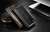 Wholesale Magnet Cover Iphone 5s - CaseMe Case R64 For Samsung Galaxy S7 S6 EDGE PLUS Iphone X 8 7 7PLUS I7 6S 6 Plus I6 5 5S Flip Wallet Leather Stand Card Magnet Cover 1pcs