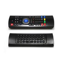 micrófono de aire al por mayor-X8 Air Fly Mouse MX3 2.4GHz Teclado inalámbrico con control remoto retroiluminado IR somatosensorial sin micrófono para Android TV Box Retroiluminación inteligente