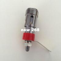 Wholesale socket bind for sale - Group buy DIY press type binding post clip Pure cupper Speaker terminal Automatic quick socket Nickel plating