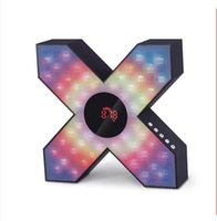 Wholesale Cool Phone Speakers - X cool styling colorful flashing lights Bluetooth speakers overweight bass sound S1 speaker
