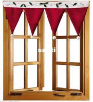 Wholesale Long Home Curtains - New Arrive Christmas Door Window Drape Curtain Decorative Indoor Home Decoration