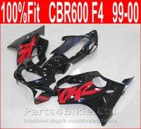 99 honda cbr großhandel-7Gifts Motorradverkleidungen für Honda 99 00 CBR600 F4 rot schwarz Bodykit CBR 600 F4 1999 2000 Verkleidung Kit KSOF