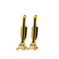 tragbare mini-schleifer großhandel-2pc Portable MINI Gold / Silber Farbe Snuff Snorter Rauchen Metallpfeife Shisha Shisha Mühle Drehmaschine Schnupftabak Reiniger Mund Tipps