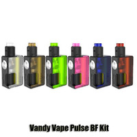 Wholesale Pulse Batteries - 100% Original Vandy Vape Pulse BF Kit Vandyvape 18650 20700 Battery Box Mod 2ml Pulse 24 BF RDA Atomizers 8ml Empty Bottle