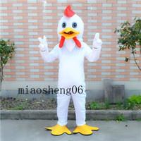 ingrosso costumi personalizzati pollo-2017 costume della mascotte del pollo bianco e bello costume del fumetto personalizzato personalizzato oggetti personalizzati di Natale di Halloween