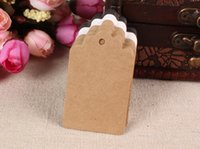Wholesale Kraft Table Numbers - New 100PCS lot Kraft Blank Hang tag Retro Gift tag, Table Number cards,High Quality Kraft Tag Paper Labels Wedding Tags 5x3cm