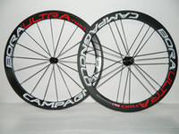 Wholesale Race Wheelset - powerway R36 Hubs white decal front bora two 18 21 carbon wheels 50MM 700C RIM carbon bicycle wheelset 700C racing bike wheel