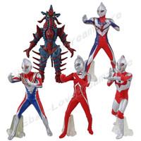 Wholesale Ultraman Figures - New Arrive Set  5pcs UItraman Neos UItraman Dyna Ultraman Hipporit 11cm-11.5cm Figure Set