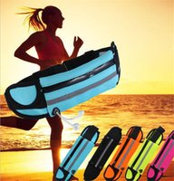 Wholesale Bags For Fitness - Running Waist Bag Sports Pocket for phones With Headset Hole-Fits Smartphone Sports Water Bags Fitness Belt Chest Pouch
