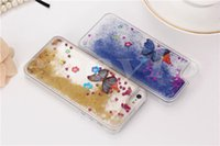 Wholesale Butterfly S6 - Glitter Stars Dynamic Liquid Quicksand With Butterfly Hard Case Cover For iPhone 6 6 plus Samsung S7 S6 edge
