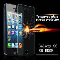 Wholesale Glass Screen Protector Iphone5 - For Galaxy S6 EDGE S3 S4 MINI S5 MINI A7 Tempered Glass Screen Protector Film for apple iPhone5 5s GALAXY AVANT G386T Glass