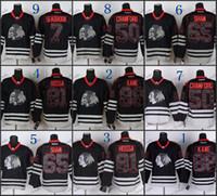 Wholesale Skull Flashing - Chicago Blackhawks #88 Patrick Kane #81 Marian Hossa #50 Corey Crawford #65 #29 #7 Black Ice And Skull Stitched NHL Hockey Jerseys Cheap