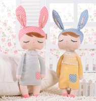 Wholesale mini plush bunnies - Children's Metoo Plush Dolls 2015 Kids girls Boys lovely stuffed bunny rabbits toys babies gifts