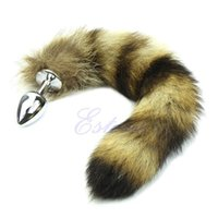 Wholesale Funny Adult Gifts - Best Christmas Gifts Small Anal Plugs Y92 Love Faux Raccoon Tail Butt Anal Plug Cat Tail Anal Plug Sexy Romance Sex Toy Funny Adult Product