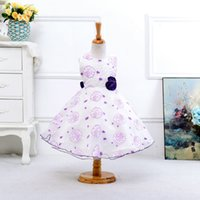 Wholesale Minnie Print - Vestidos Christmas Dress Special Offer Bow Minnie Girls Clothes 1pcs Retail Girls, 5-color Printing Roses Princess Gauze Tutu