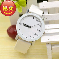 Wholesale Table Watches Vintage - Korean version of the minimalist trend watches Ladies Lesbian Couples table fashion table table students watch wholesale vintage