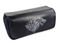 Game Movie Logo Bag Game of Thrones Alta capacidad Double Zipper Pencil Purse Leather Cosmetic Bags Fashion Anime