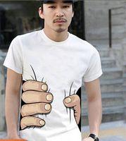 "Wholesale Shirt Catch - Hot ! ""I CATCH YOU"" 2014 NEW MEN'S WOMEN'S T-SHIRT Cotton Funny Big Hand Grab Printed Short Sleeve T Shirts"