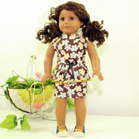 Wholesale Party Dress 18 - Free Shipping Brand New Party Gifts For Children Girls Dolls Clothes Accessories Fashion Dress For 18'' American Girl Dolls Dress