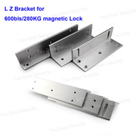 Wholesale Magnetic Door Access - Z&L Mounting Bracket for 280KG 600lbs Electric Magnetic Lock Door Access Control