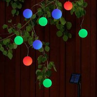 Wholesale Outdoor Strung Lights Balls - 9M 20Leds Solar Led String Light Colorful Ball Light Waterproof Christams Fairy Lights For Party Weeding Decoration Outdoor lighting