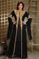 Wholesale size 16 clothing for sale - 2018 Long Arabic Crystal Beaded Islamic Clothing for Women Abaya in Dubai Abaya Kaftan Muslim Arabic Evening Dresses Party Prom Gowns