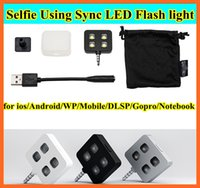 Für iphone 6 IBLAZR L001 Verbesserung Selfie mit Sync LED Flash icanany LED-Video-Licht für DISR Monopod Selfie Stick Smartphone 4 LED-Licht