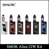 Wholesale Green Aliens - SMOK Alien Starter Kit 220W ALIEN Box MOD & 3ml TFV8 Baby Tank with 0.4ohm 0.15ohm Core Smok Alien Kit DHL Free
