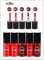 Wholesale waterproof high quality lip gloss resale online - Mixiu new high quality waterproof lipstick lasting liquid lip gloss lipstick nonstick cup Multifunctional beauty blush Lips
