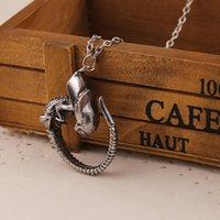 Wholesale Horror Charms - 2015 new arrival Horror Movie Alien Pups Crawlers Monster Xenomorph Larva Pendant Necklace Statement necklace jewelry