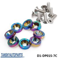 chrome en aluminium achat en gros de-D1Spec 8PC M6 x 20MM CNC Billet Aluminium Fender Pare-chocs Gilet Bolt Engine Bay Dress Up Kit Neo Chrome D1-DP01S-7C
