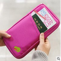 Wholesale travel documents holder wholesale - 2015 New style Passport Holder Organizer Wallet multifunctional document package candy travel wallet portable purse business card holder