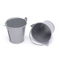 Wholesale mini favor buckets - Wholesale- 10Pcs Lot Cute Deep Gray Mini Metal Buckets For Wedding Birthday Party Souvenirs Gift Event &Party Supplies