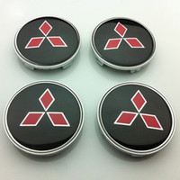 Wholesale Logo Center Cap - 4pcs Set 60mm Mitsubishi Vehicles Wheel Center Hub Caps Car Wheel Center Hup Covers Wheel Centre Cups Badges Car Emblem Logo Stikers 1566