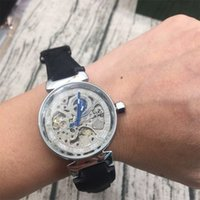 Wholesale Top Women Skeleton Watches - AAA Top Luxury brand Hollow Skeleton Automatic Mechanical Watches For women Watch Stainless Steel Strap Wristwatches Clock relogios feminino