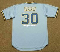 A buon mercato personalizzato MOOSE HAAS Milwaukee Brewers 1982 Majestic Cooperstown Away Baseball Jersey Retro Mens Jerseys