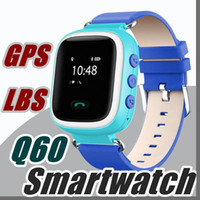 2017 Q60 GPS GSM GPRS Smart Watch Reloj Intelligente Locator Tracker Anti-Perdu Moniteur À Distance Smartwatch Meilleur Cadeau Pour Enfants Enfants BB-BS