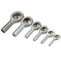 Wholesale Threaded Rod Ends - Silver Tone 6-18mm Dia Male Threaded Single Row Rod End Oscillating Bearing order<$18no track